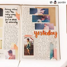 #Repost @jeon9in . . . 🍒 Use #mykpopjournal for a feature!! . . #nct #bujo #bulletjournal #kpopjournal #ten #yestoday #mark #taeyong… Study Journal, Art Journal Pages, Journal Ideas, Bullet Journal Notes, Bullet Journal Layout, Study Inspiration, Bullet Journal Inspiration, Nice Handwriting, Dream Book