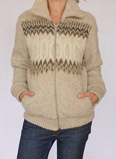 Vintage 1970s wool nordic jacket @ www.secondhandnew.nl