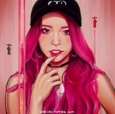 EXID - hot pink (junghwa fanart)