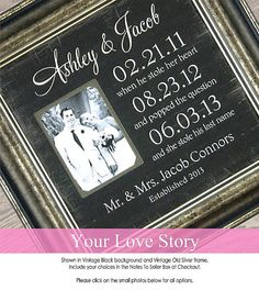 Personalized Picture Frame Bride Groom by PhotoFrameOriginals