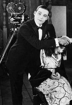 Rudolph Valentino and Gloria Swanson