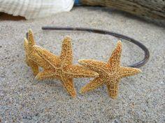 Starfish Headband-Tortoise Shell- Beach Hair, Mermaid, Beach Weddings, Bridal Headband, Summer Style, Mermaid Party