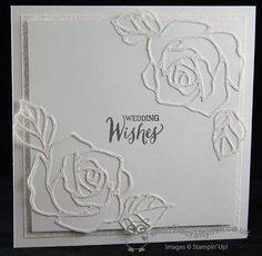 #WhiteOnWhite #RoseGardenThilitDies make for a beautiful #WeddingCard The Crafty Owl | White on White Rose Garden Wedding Card