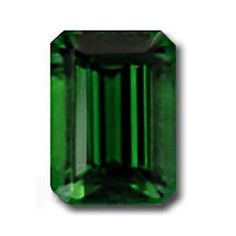 Wonderful 1.62 carat emerald cut Tsavorite. Bursting with colour and brilliance. Truly stunning!