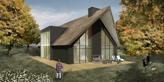 Villa Waddinxveen Thatched House, City Farm, Villa, Swedish House, Mountain Homes, Construction, Wooden House, Classic House, Exterior Design