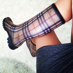 It is a raing day in Umeå and I use my lovely Burberry wellies