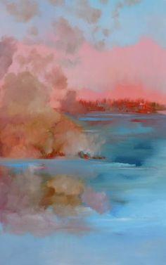 "Saatchi Art Artist Veta Barker; Painting, ""Clouds are reflecting Autumn"" #art"