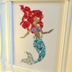 This Disney The Little Mermaid Wall Art Baby Shower Ariel Gift Girls Button Frame Princess Gift Nursery Decoration Disney Princesses Swarovski is just one of the custom, handmade pieces you'll find in our wall décor shops. Cinderella Decorations, Little Mermaid Decorations, Button Wall Art, Button Frames, Mermaid Wall Art, Seahorse Art, Girls Bedroom, Bedroom Decor, Disney Button Art