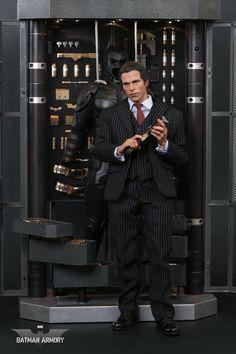 Hot Toys Batman Armory with Bruce Wayne & Alfred Set Final Product Photos