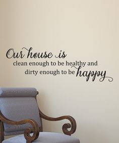 'Our House Is Happy' Decal | zulily