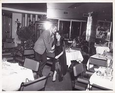 TYRONE POWER & Wife LINDA CHRISTIAN Original CANDID Vintage 1950s Photo