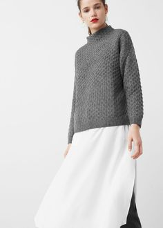 Pullover mit kaminkragen | MANGO