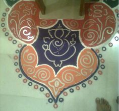 Ganpati Rangoli Designs