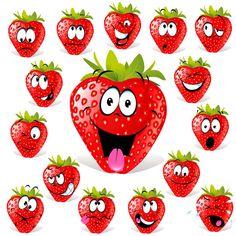 - une grosse fraise en peinture au pinceau pour la couleur rouge et coton tige…