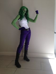 A quick shot of my She-Hulk (Marvel) I wore to DragonCon! I airbrushed my own makeup on.