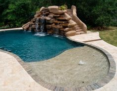 Swimming Pools With Slides And Waterfalls Houston Pool Builders New Web Presence Poolside Designs