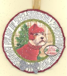 Mills Sealyham Terrier Christmas Dog Ornament by ONEINTHREEWOMEN