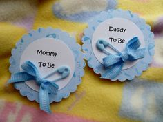 Baby Shower Corsage with Diaper Pin and Ribbon...Mom to Be Corsage...3D...Free Personalizing :)
