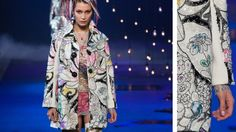 Marc Jacobs SS17 - it's like a colouring in book jacket!