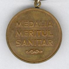 Medal for Medical Merit (Medalia Meritul Sanitar), issue Medical, Bronze, Medicine, Med School, Active Ingredient