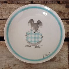 Assiette de naissance # ma petite souris bleue