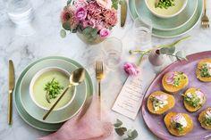 Dijon Glazed Salmon & a Sweet Pea Salad Cute Food, Yummy Food, Raw Food Recipes, Healthy Recipes, Watermelon Radish, Pea Salad, Glazed Salmon, Vegetable Salad, Spring Recipes