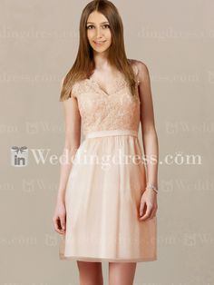 I think this one would go perfectly with the wedding dress I have in mind.  Of course, have to get the girls' approval.  Casual Beach Bridesmaid Dress with Lace BR340