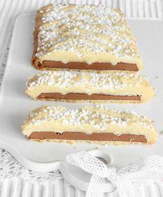 Mördegsinbakad mjölkchoklad – Lindas Bakskola Fika, Vanilla Cake, Tiramisu, Nom Nom, Cake Recipes, Sweet Treats, Cheesecake, Food And Drink, Sweets