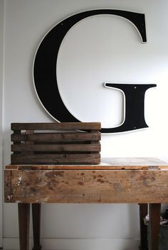 Cool letter—love the huge size❣ In My House Blog & Store