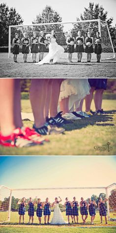 Soccer wedding... now we're talking! I think this is my wedding right here.