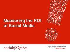 Measuring the #ROI of #SocialMedia