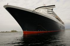 The Queen Mary 2 calls at Helsingør, Denmark.