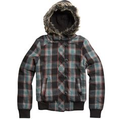 Fox Racing Women's Back Country Plaid Bomber Jacket