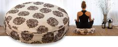 Meditation-Cushion-Ivory-Brown-Floral2
