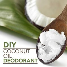 DIY Coconut Oil Deodorant - This easy recipe for isn't filled with chemicals like the commercially made brands. I especially like that it doesn't contain aluminum. This DIY deodorant is fragrant without having added perfume. #DIY #DIYdeodorant