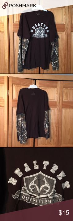 Realtree Camo XL Tee Shirt Realtree Outfitters Long Sleeve T-Shirt  Men's XL (I bought it for me) 😉 Slightly worn. Realtree Shirts Tees - Long Sleeve