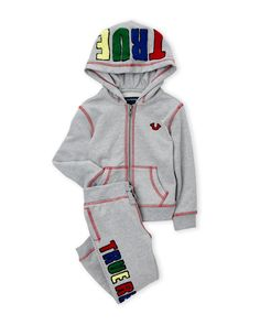 True Religion (Infant Boys) Two-Piece Embroidered Logo Hoodie & Sweatpants Set