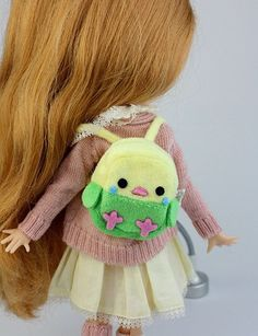 Little Chick Back Pack   Blythe Bags   Doll Accessories   JerryBerry, Dal, Pullip , AZONE S, Momoko, Lati Yellow, Pukifee