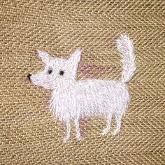 Day 45 of #100daysof100dogs project - today a little funny white spitz and he needs a name😳🐶 please help in comments!❤️ #the100dayproject #makikoart #dogportrait #customportrait #dogembroidery #ilovedogs #spitz #whitespitz #smalldog #needsname #creativelifehappylife #craftsposure #makersvillage #art_we_inspire #embroidery #handstitched #stitchersofinstagram #modernmaker #summerjewelry #broderie #bordado #dogsofinstagram #dogstagram #thehandmadeparade #creatorslane