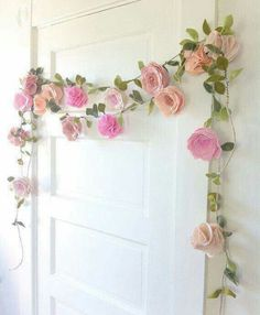 Flower Garland Decorative Ideas - This item is made to order with a week turnaround time. A fun and festive felt flower perfect for nurseries room decor, special events, - Trending decorative uses of flower garlands in 2019 Felt Flowers, Diy Flowers, Fabric Flowers, Paper Flowers, Paper Flower Garlands, Green Flowers, Felt Diy, Felt Crafts, Diy And Crafts