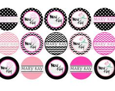Mary Kay Clip Art | Mary Kay Inspired 1 inch digital bo ttle cap image sheet ...