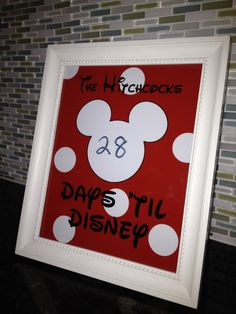 This is a great idea for when I surprise my kids one day and tell them we are going to Disney World. Countdown to Disney Personalized 8x10 by CarolinaPineapple, $9.00