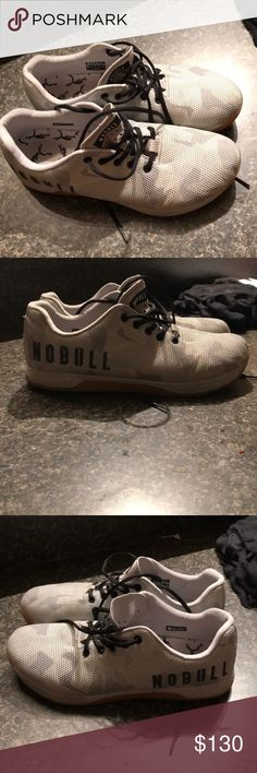 White camo No Bull shoes. Barley worn white cano nobull project shoes. men size 12.5 NoBull Project Shoes Athletic Shoes