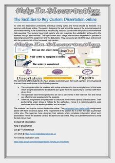 Buying a dissertation writing