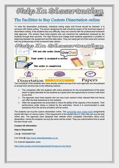 Buy ready made dissertation