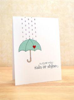 rain or shine w/ die cut rain drops