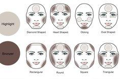 How to achieve a perfect makeup for the face – Concejos – - Make-up-Kontur Le Contouring, Contour Makeup, Contouring And Highlighting, Eye Makeup, Bronzer Vs Contour, Contour Face, Contour Palette, Beauty Makeup, Asian Makeup Before And After