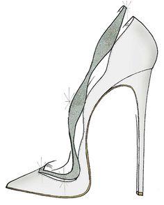 """Alexandre Birman """"Mi visión de la zapatilla de cristal fue inspirada por la belleza atemporal y femenina que creo Cenicienta y la marca Alexandre Birman ambos comparten.  Yo reinterpretado nuestra bomba Johanna clásico, esta vez dándole un toque de moda y romántico con satén y cristales de Swarovski.  Es un zapato que me imagino una princesa moderna usaría. """"-Alexandre Birman"""