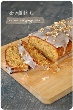 Fluffy hazelnut and candied ginger cake - Strawberry Pich - Trend Christmas Cake 2019 Pie Dessert, Dessert Recipes, Mexican Food Recipes, Sweet Recipes, Ginger Loaf, Desserts With Biscuits, Biscuit Cake, Sweets Cake, Chocolate Mug Cakes