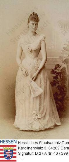 Empress (Tsarina) Alexandra Feodorovna da Rússia nascido Princess Alix of Hesse and by Rhine (1872-1918) em 1890.